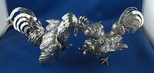 Neresheimer Kämpfende Hähne Hahn massive Figuren 835er Silber