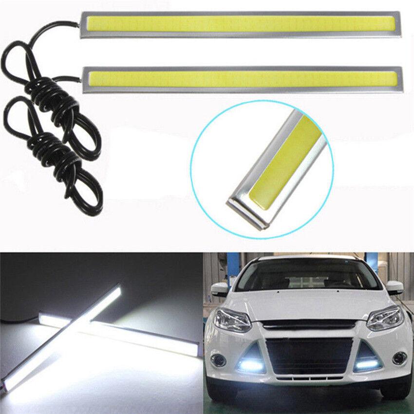 1pcs 12V LED COB Car Auto DRL Driving Daytime Running Lamp Fog Light Blue 17cm