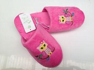 BNWT Little Girls Sz 11 Target Brand Cute Pink Fairy Bugs Elastic Back Slippers