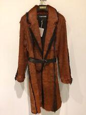 TOM FORD $17,900.00 NWT  Designer Orange & Black Goat Fur Coat  38 +  Bag