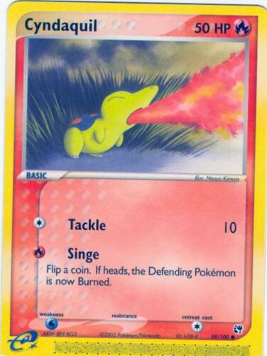 pok-SS-059 Pokemon EX SandStorm Card # 59 Cyndaquil C 4x