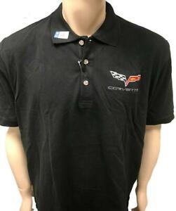 CHEVROLET-CORVETTE-officiel-Homme-Polo-Shirt-avec-logo-brode
