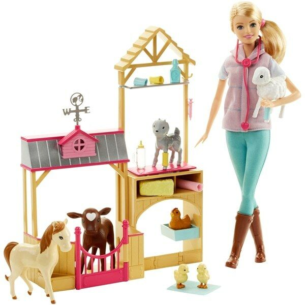 Bambola Barbie Fattoria VET e Playset NUOVO NUOVO NUOVO CON SCATOLA NAVI VELOCI 6a83c6