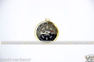 NAUTICAL VINTAGE SHIP MARINE MARITIME BRASS 1'' CAMPING AND HIKING COMPASS MOD