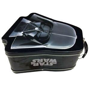Star Wars Metal Lunch Box Tin Tote Darth Vader 2013 Embossed Black Handle