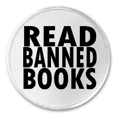 "Read Banned Books - 3"" Circle Sew / Iron On Patch Librarian"