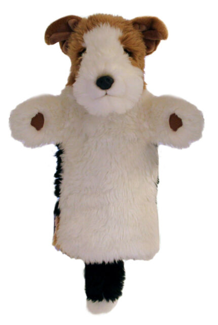 NEW PLUSH SOFT TOY Puppet Company Fox Terrier Dog 6052 Stage Hand Puppet 35cm