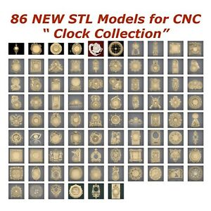 86-NEW-Clocks-3d-STL-Models-for-CNC-Router-3d-Printer-Artcam-Aspire-Cut3d
