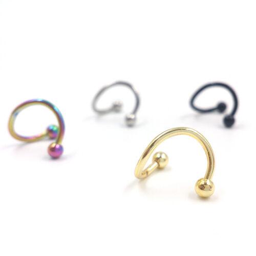 Acier inoxydable Twist nez boucle anneau boucles d/'oreilles bijoux corps  LC