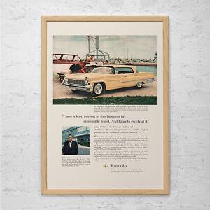 VINTAGE-LINCOLN-CAR-Ad-Classic-Car-Poster-Old-Car-Ad-Retro-Car-Print-Vintag
