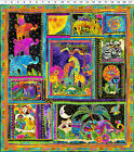 MYTHICAL JUNGLE Panel Laurel Burch Quilt Fabric 23.5