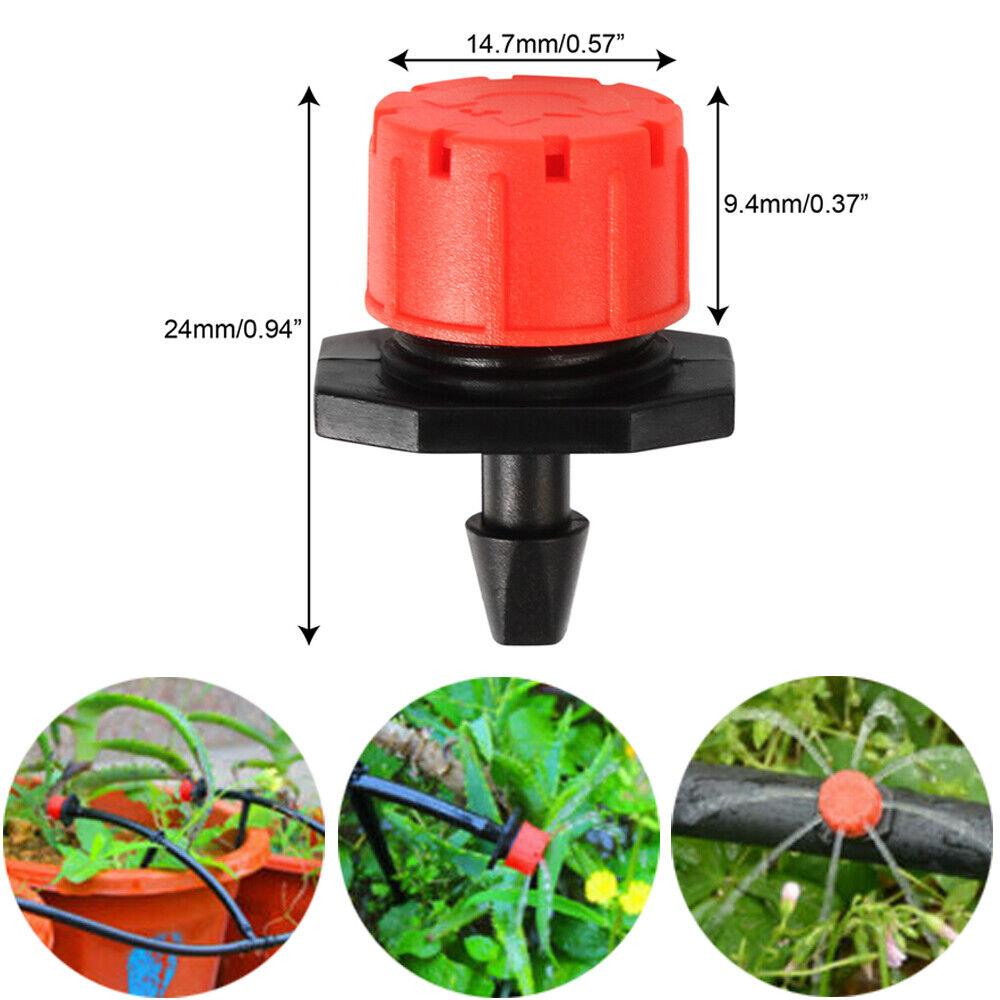 50Pcs Adjustable Garden Irrigation Mist Micro Flow Dripper Water Hose Drip Head