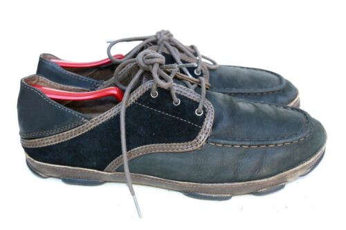 Olukai Kupa'a Black Leather Oxford Lace Up Casual