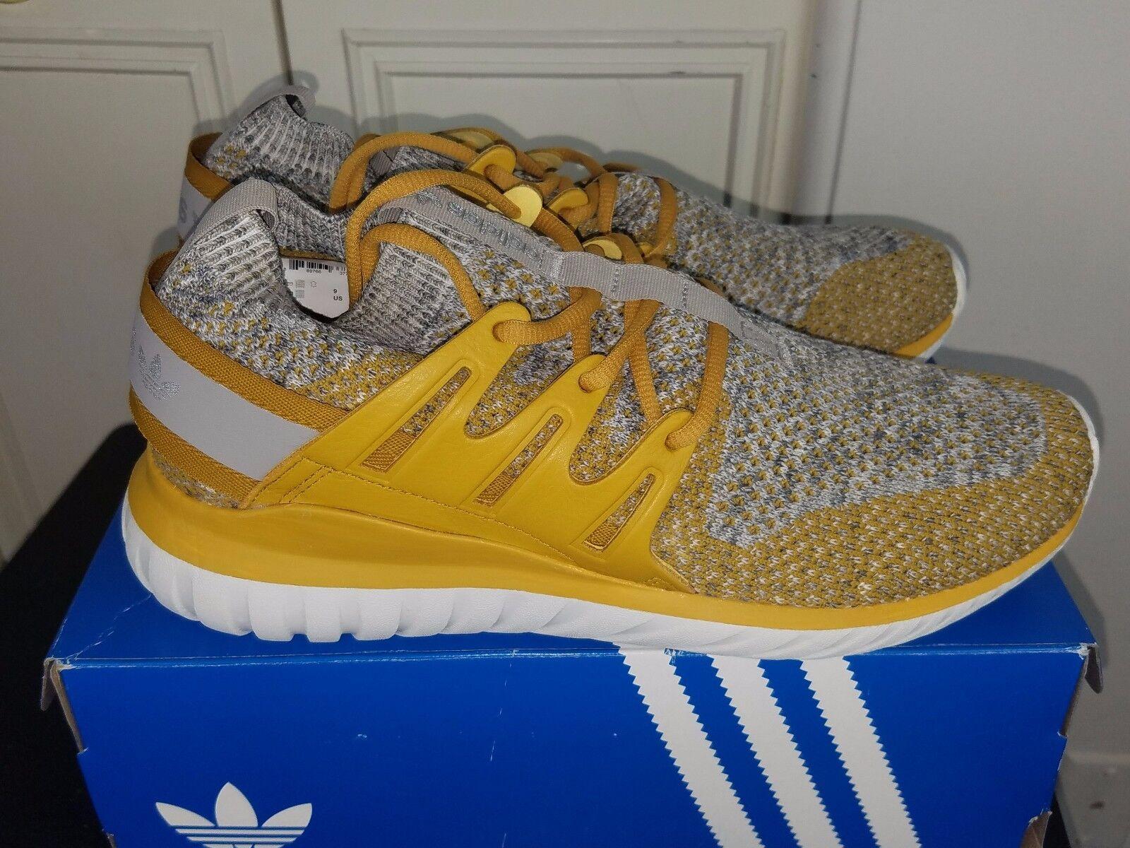 Männer adidas tubuläre nova pk primeknit bb8407 bb8407 bb8407 stein gelbe granit schuhe sneaker 208465