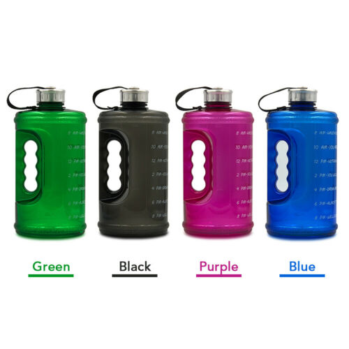 2.2L Motivation Water Bottle with Time Marker Outdoor Camping Hiking S0C3