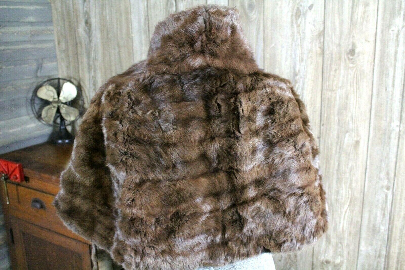 Vintage Goldblatt's Fur Shaw Stole Brown Mink Old… - image 3