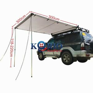 3MX3M Car Side Awning Roof Rack Tent Shade Camping 4X4 4WD ...