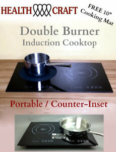 Image Is Loading Health Craft Counter Inset Double Burner Induction Cooktop