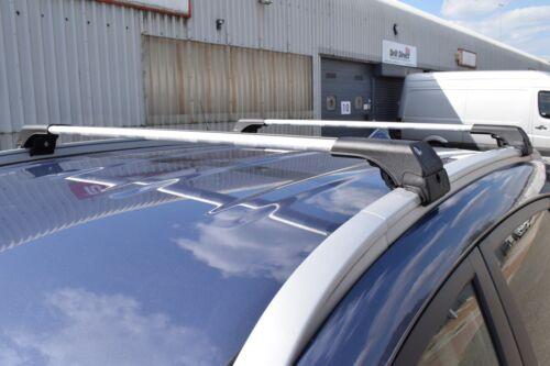 FIAT 500 X onwards 2014 ANTI THEFT ALUMINIUM CROSS BARS RACK 75 KG GREY NEW