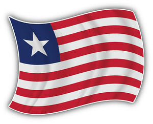 Details about Liberia Flag Waving Car Bumper Sticker Decal 5'' x 4''