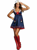 Ladies Womens Sexy Sassy Sailor Halloween Fancy Dress Costume Hen Party Outfit