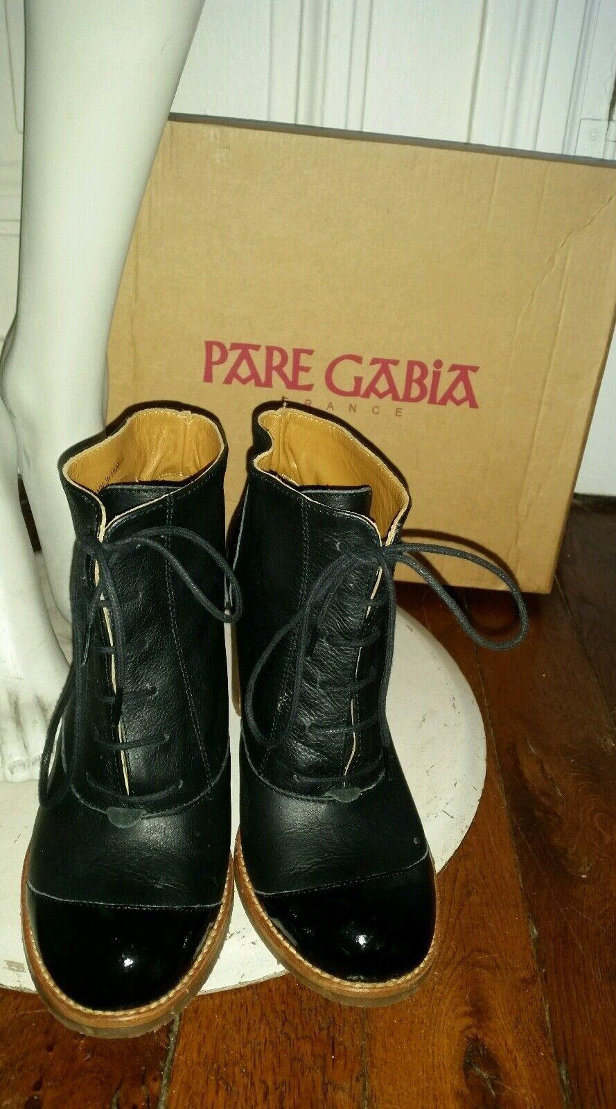 Niedrig Stiefel cuir P38 PARE GABIA bottines pin up escarpins rétro vintage robe  escarpins up 63da63