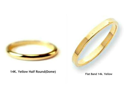 Handmade in U.S. 10K /& 14K.Solid Gold Band,Wedding Band or Stacking Ring 2 mm