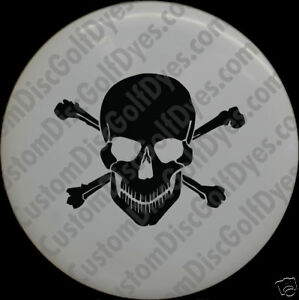 Disc-Golf-Custom-Dye-Stencil-Skull-amp-Cross-2-Pack