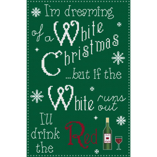 kit or chart I/'m Dreaming of a White Christmas Cross Stitch Design
