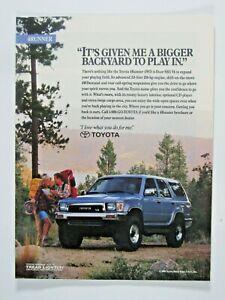 "1991 Toyotaer 4 WD SR5 Bigger Back Yard Original Print Ad-8.5 x 11"""