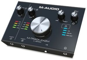 M-Audio-M-Track-2X2M-Audio-interface-MIDI-USB-2-In-2-Out-a-24-bit-192kHz