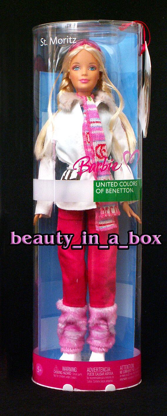 St. Moritz Muñeca Barbie  United Colors of Benetton Moda Italia Italiana  raras