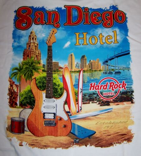 HARD ROCK HOTEL SAN DIEGO CITY TEE T-SHIRT SIZE ADULT LARGE NEW WITH TAGS