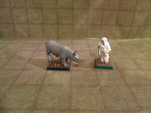 Details about 25mm / 28mm Scale Rhino Rhinoceros Animal Companion   Pathfinder DnD  Minees
