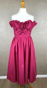 VERA MONT Damen Gr. 42 Bandeau Kleid Dress Pink Rosa Fest ...