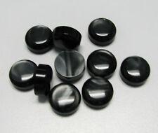 Accordion BUTTONS BLACK PEARL Harmonika Knöpfe 13.8 x 6.5 (mm) SET OF 10