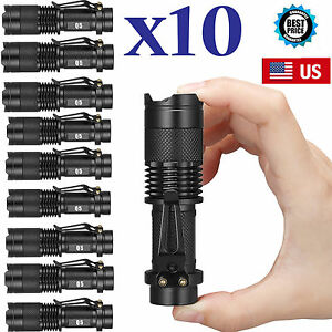 10-x-UltraFire-Military-CREE-XM-L-T6-10000LM-LED-Flashlight-Police-Torch-Lamp