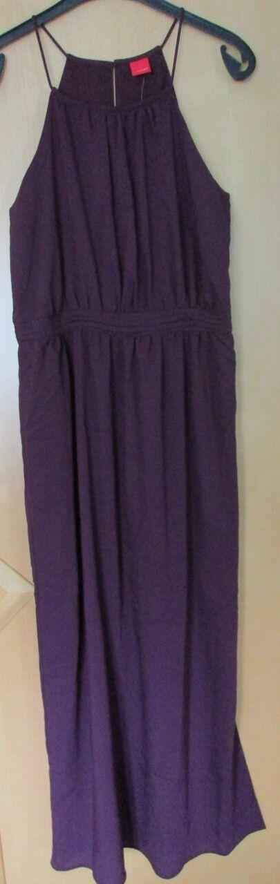 Livre Kleid lang, Maxikleid, Gr. 42 bordeaux, weinrot, amerikanischer Ausschnitt