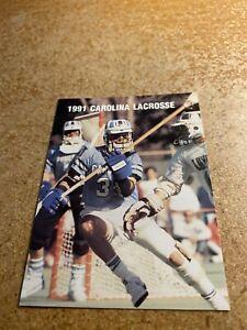 North Carolina, University of 1991 Men's Lacrosse Pocket Schedule Card