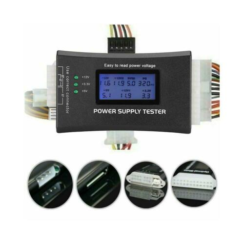 20//24 4//6//8 PIN LCD Computer PC ATX Power Supply Tester Tool for SATA IDE HDD