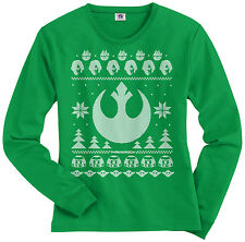 Light Side of the Force Star Wars Ugly Sweater Women's Long Sleeve T-shirt
