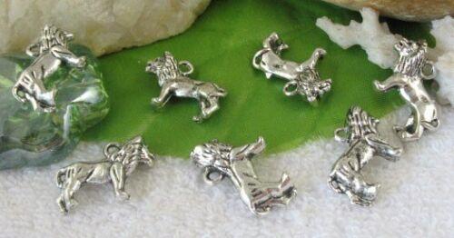 20pcs Tibetan silver lion charms FC9364