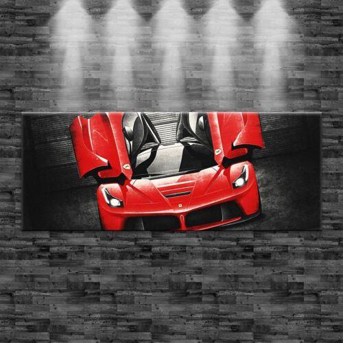 XXL LaFerrari V12 Panorama 160x60cm auf Leinwand Keilrahmen Loft Design