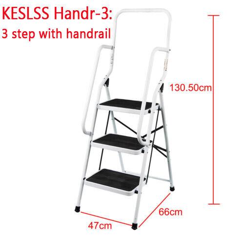Folding Aluminium 2-8 Steps Ladder Non Slip Tread Steel Stool Stepladder Safety
