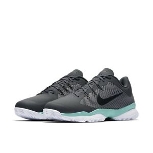 6a3a897e67881 Nike Mens Air Zoom Ultra Tennis Athletic Shoes Sz 11 Teal Gray Black ...
