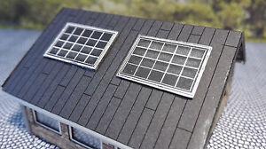 12 Solarmodule für vorhanden Häuser | Spur N 1:160 | Lasercut Bausatz