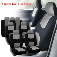 3 Row Car Seat Covers Full Set Universal For 7 Seaters Auto Trucks Vans Suv Gray Fits Volvo