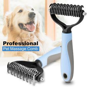 Pet Hair Dog Cat Comb Remover Tool Grooming Fur Massage Deshedding Brush Rake US