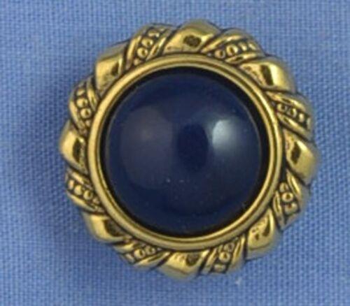 18mm Navy Gold Shank Button