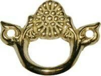 Cast Brass Victorian Style Finger Pull Keyhole Vintage Antique Old Restore
